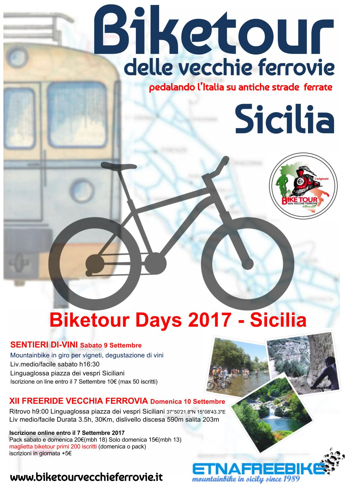 Locandina biketour 2017 - Sicilia